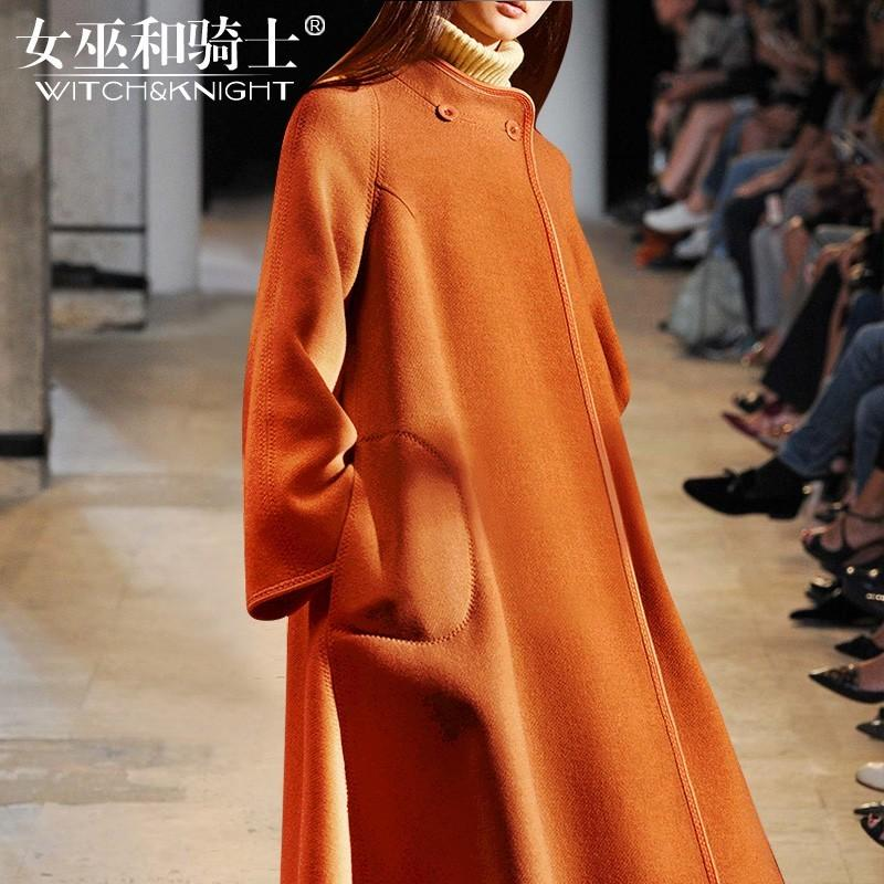 Hochzeit - Oversized Wool Over Knee Wool Coat Puncho Coat Overcoat - Bonny YZOZO Boutique Store