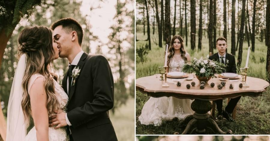 Hochzeit - A WALK IN THE FOREST ELOPEMENT