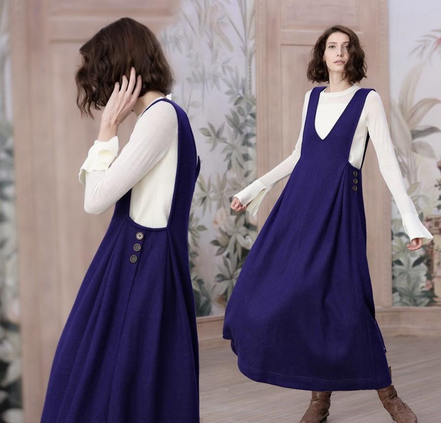 0b7c58e413bf0 wool dress, wool halter dress, wool jumper, wool maxi dress, wool pinafore  dress, long wool dress, winter dress, maxi dress, party dress