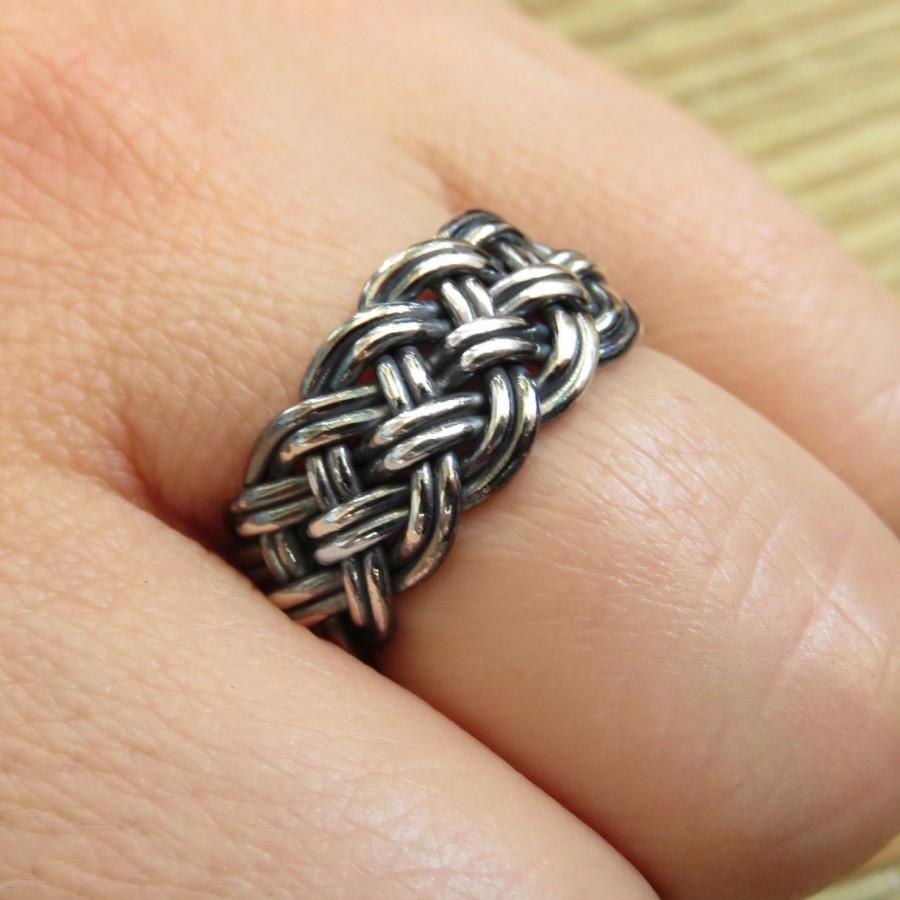 Mariage - Celtic Knot Ring - Celtic Wedding Band - Braid Ring - Celtic Band - Celtic Ring - Knotted Band - Mythic Ring - Jewelry with Meaning
