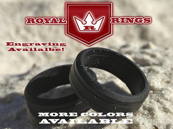 Wedding - Men's Silicone Wedding Ring PoliceLaw EnforcementMechanicsActive DutyAnniversaryFathersMilitaryArmy DadCrossfitGym Black Ring