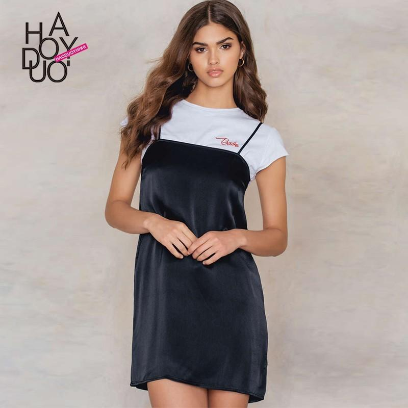 Mariage - Vogue Sexy One Color Spring Casual Strappy Top Dress - Bonny YZOZO Boutique Store