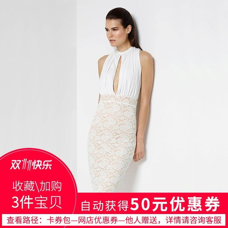 Mariage - Sexy Attractive High Cut Split Front Slimming Sheath High Waisted Lace Dress - Bonny YZOZO Boutique Store