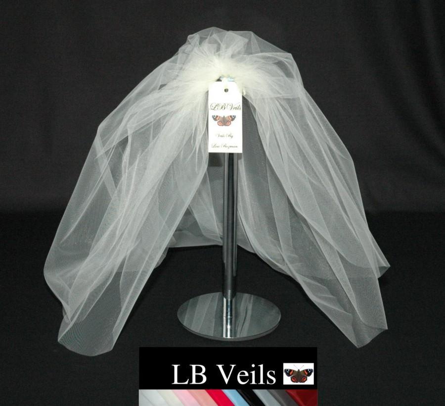 Свадьба - Wedding Veil, Ivory Veil, Plain Veil, Shoulder Length, Short, Bouffant, Waist Length, Any Colour, Any Length,  White Veil, LB Veils 161 UK