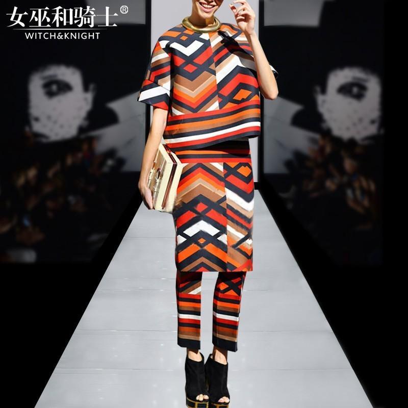 Hochzeit - Fashion 2017 autumn new high-end fashion runway outfit skirt set of 3 female - Bonny YZOZO Boutique Store