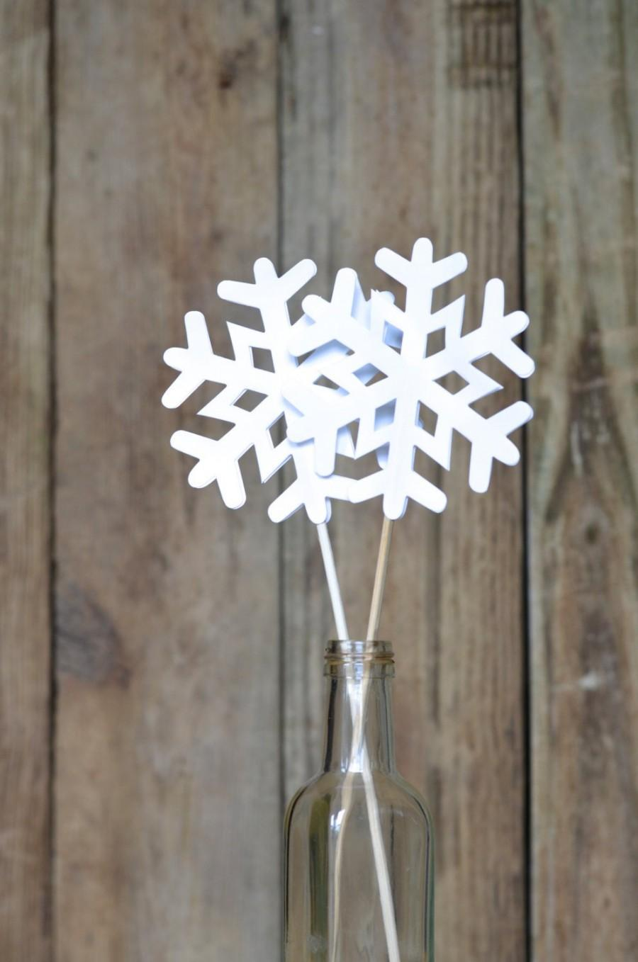 Mariage - Frozen Snowflake Pie Topper, cake topper or wand