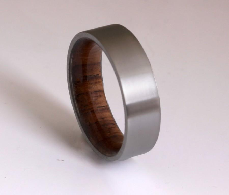 Свадьба - wood ring titanium band wedding ring woman wood man jewelry engagement ring wood wedding band Honduras ROSE WOOD