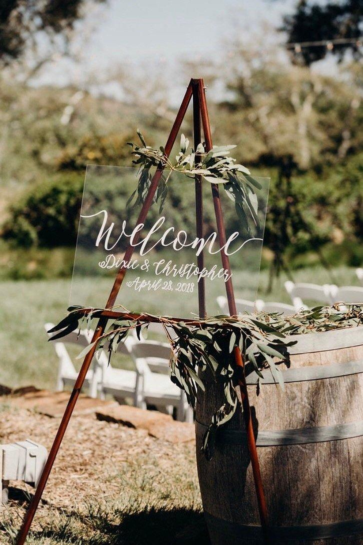 Hochzeit - Acrylic Welcome Sign