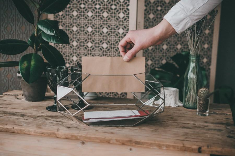 Hochzeit - Large Wedding Rocket Card Holder Wedding decor Cards Holder Box for wedding cards Terrarium