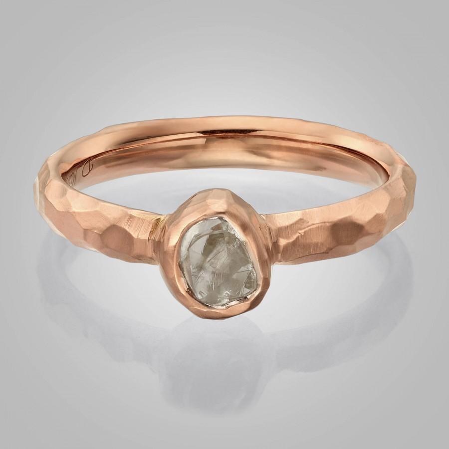 زفاف - Raw Engagement Ring,  Chiseled Raw Diamond Ring, rough diamond ring, Alternative Engagement Ring, Hammered Engagement Ring, Hammered Raw