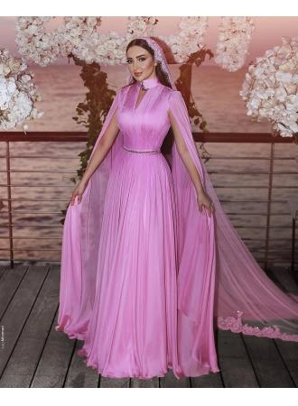 b2ccd466dc22cf Modern Rosa Abendkleider Lang Tüll Abendkleid Abendmoden Online  Modellnummer: XY269