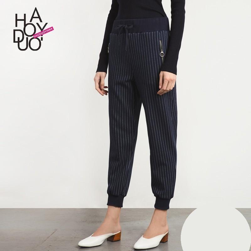 Hochzeit - 2017 summer dress new Vogue striped straight leg cropped casual pants - Bonny YZOZO Boutique Store