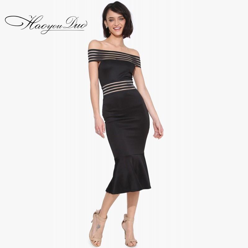 Свадьба - Slimming Sheath Bateau Frilled Midi Dress Dress - Bonny YZOZO Boutique Store