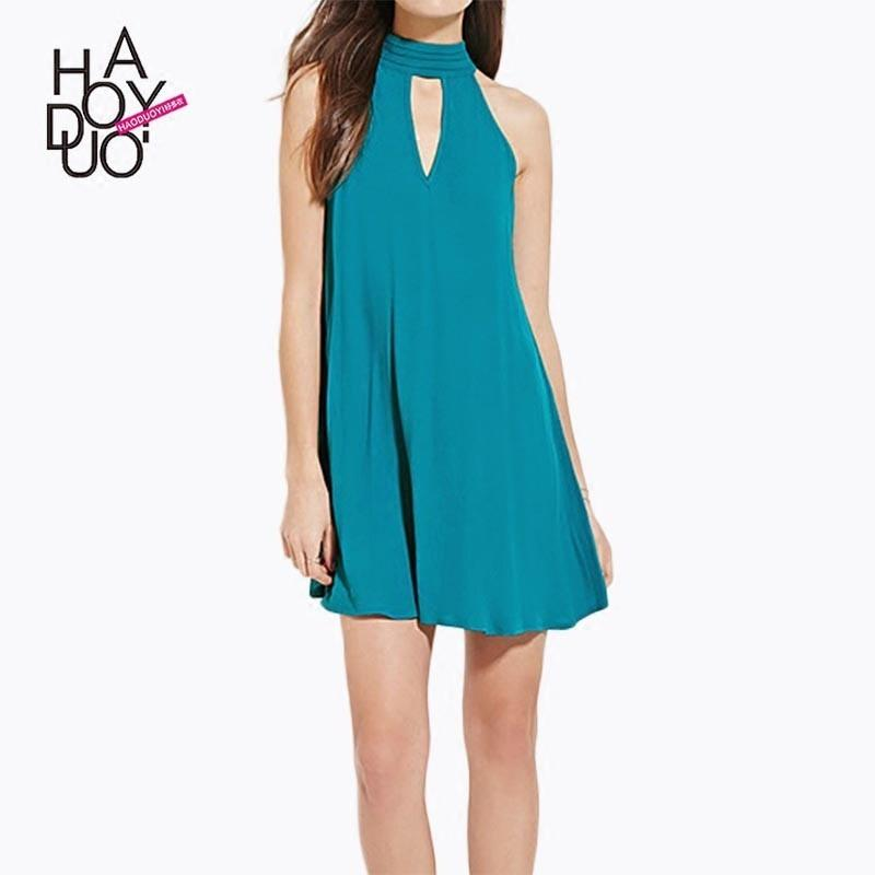 Wedding - Vogue Sexy Hollow Out Slimming Sleeveless Summer Dress - Bonny YZOZO Boutique Store