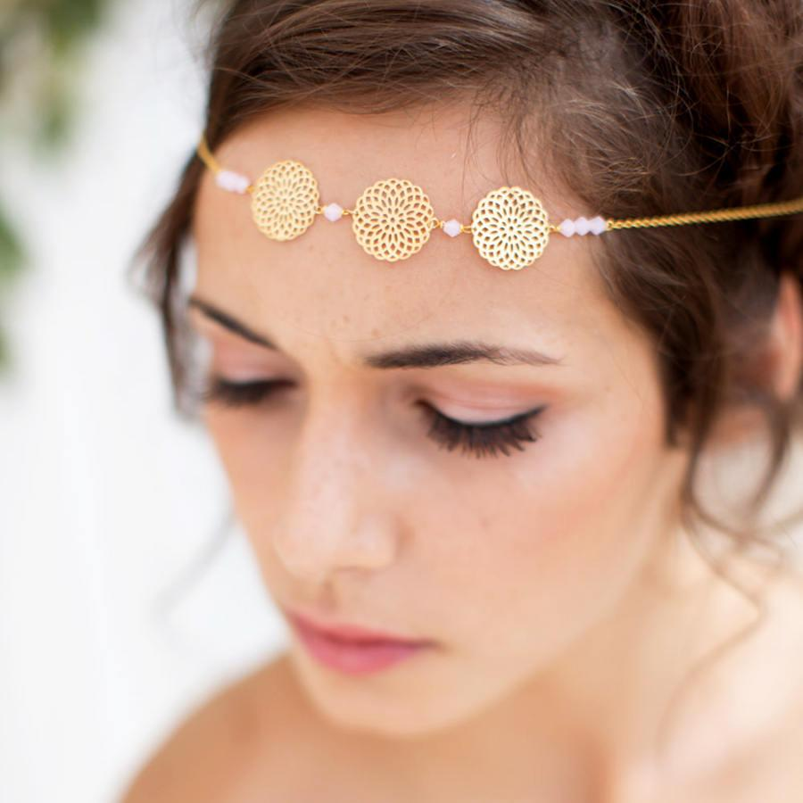 Mariage - Headband - Beji - Bridal wedding headpieces - bridal headband - filigree headband - Nature - bridal hair headband - Headpiece headband