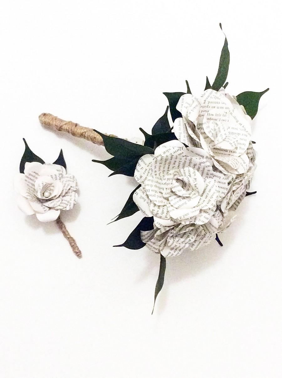 Wedding - Harry Potter Bouquet, Custom Book Bouquet Wedding,Book Flowers, Paper Flower Bouquet, Paper Bouquet, Bouquet Alternative