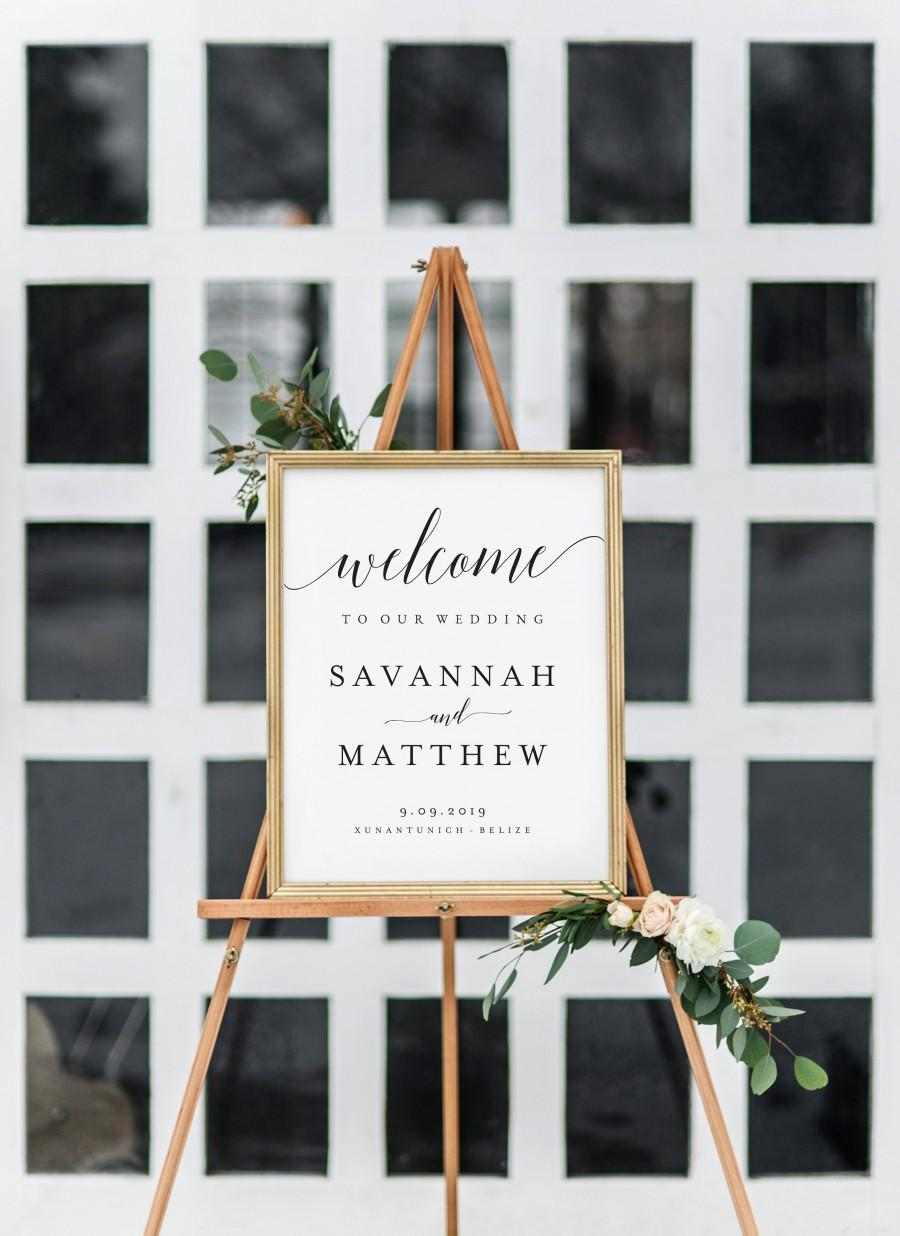 Mariage - SALE!!! - Welcome to our Wedding Sign Template Welcome Wedding Template Welcome Wedding Sign Wedding Welcome Sign PDF Welcome Wedding
