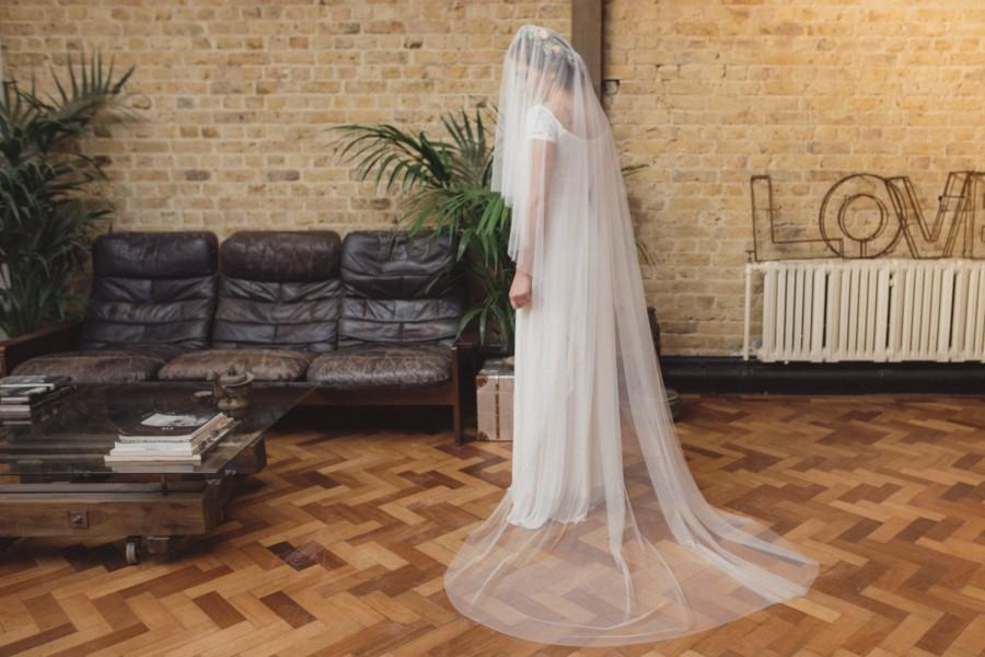 Mariage - Soft tulle drop veil, soft silky drop veil, English Net drop veil, Kate Middleton veil, fingertip, chapel, cathedral length - 'THERESE'
