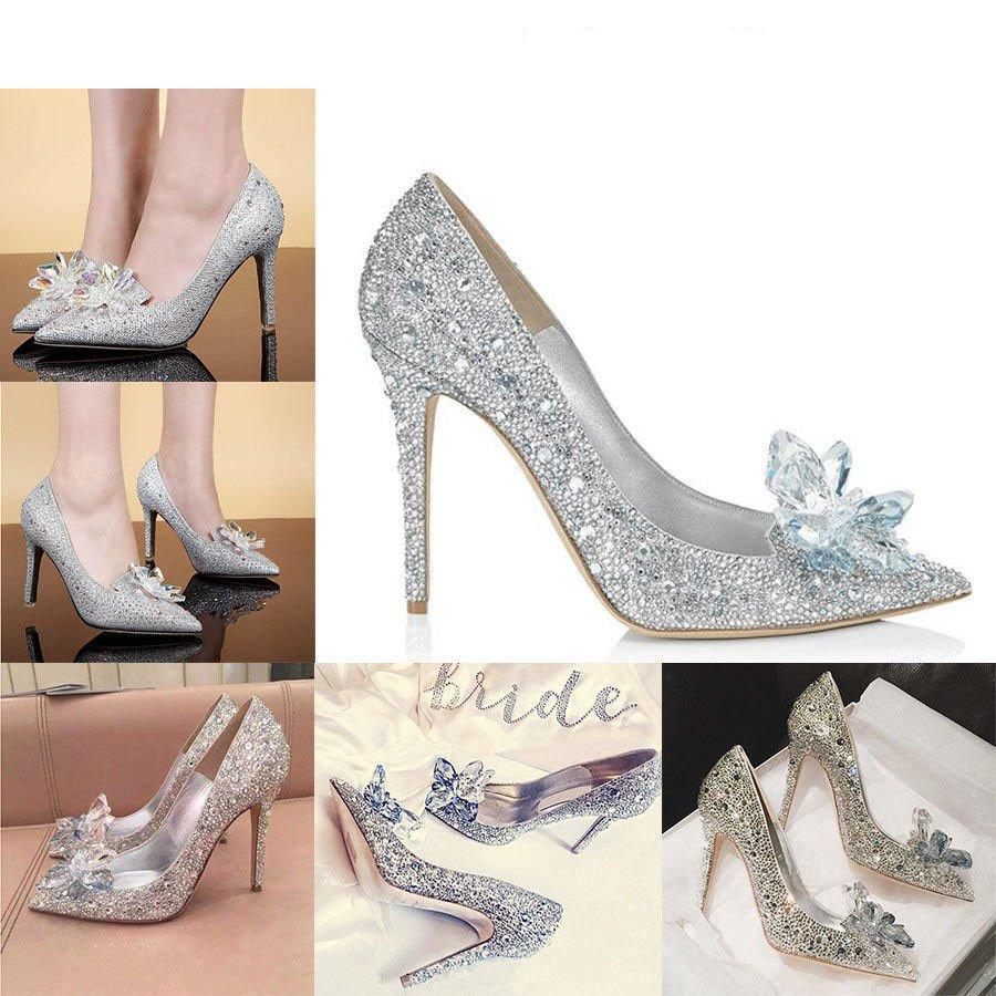 Wedding - Cinderella Rhinestone Glass Slipper - wedding - party heels