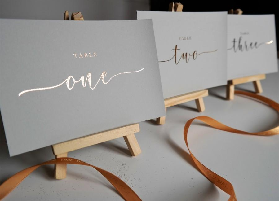 Wedding - A6/A5 table number cards