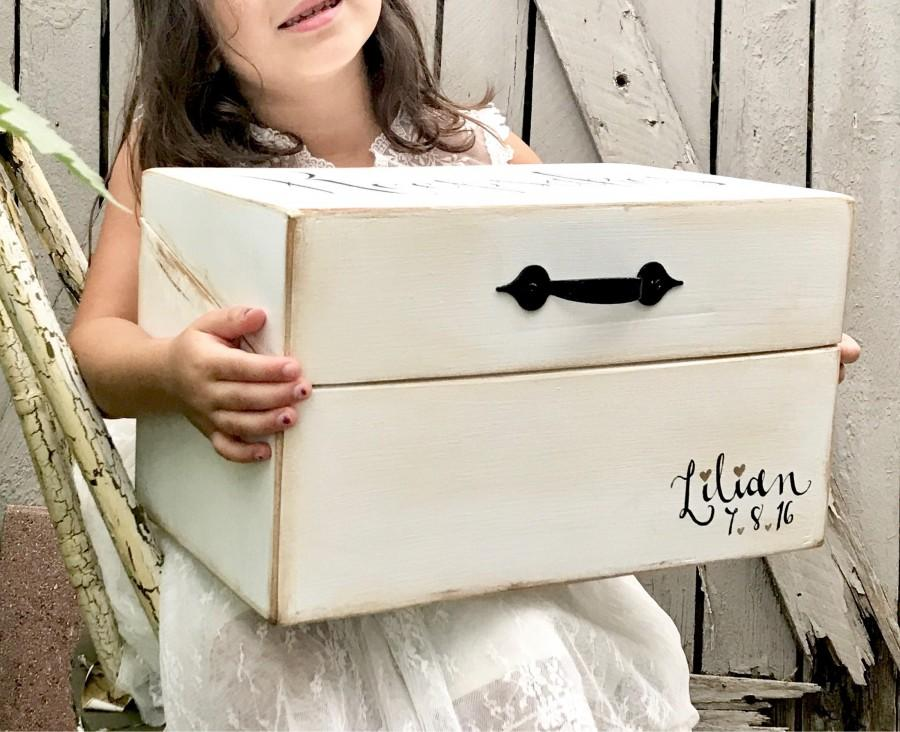 Hochzeit - Personalized Keepsake Box, Wedding Keepsakes, Baby Keepsakes
