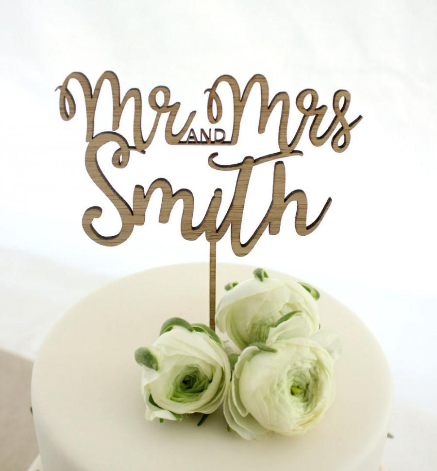 Свадьба - Personalised cake topper, custom wedding cake topper, eco friendly cake topper, wedding timber cake topper, mr and mrs