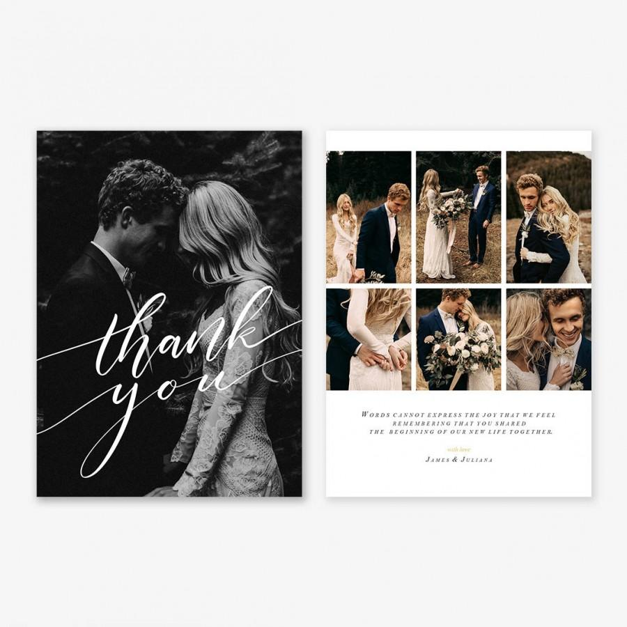 wedding thank you card template for photographers wedding