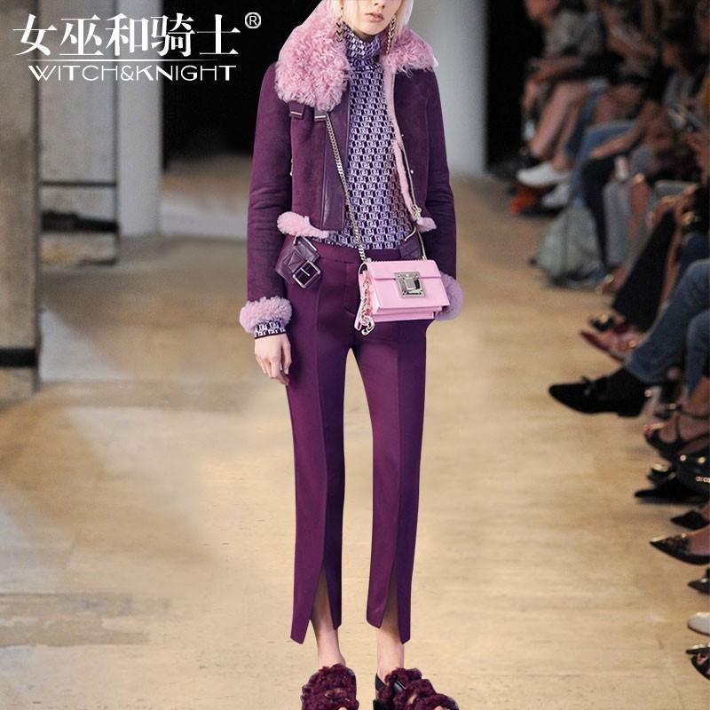 زفاف - Vogue Attractive Seude It Girl Winter Outfit Twinset Skinny Jean Coat - Bonny YZOZO Boutique Store