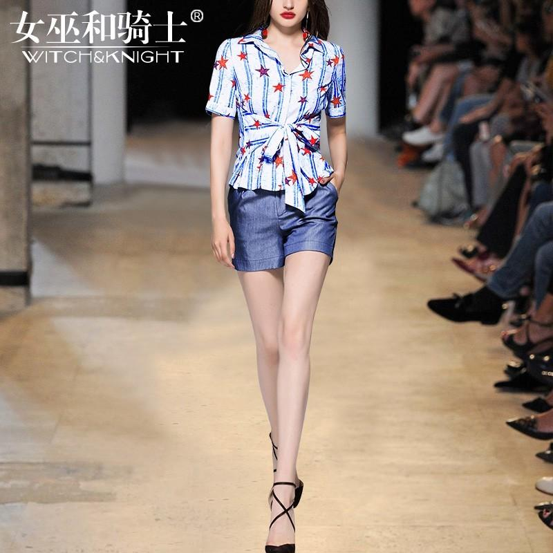 Wedding - Vogue Attractive Printed Slimming Summer Outfit Twinset Top - Bonny YZOZO Boutique Store