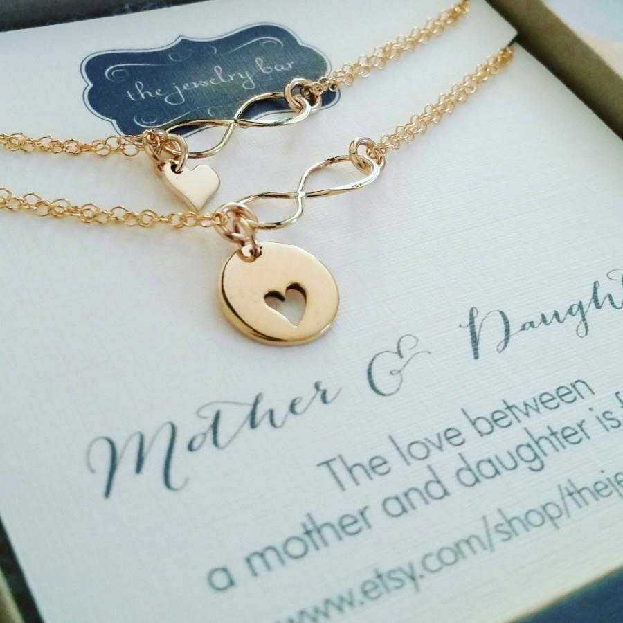 Unique Wedding Gift Mother Of The Bride Jewelry Mother Daughter Heart Infinity Bracelets Matching Mom Daughter Gift Set Mother Of Bride 2886323 Weddbook