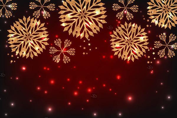 Christmas Invitation Background Gold.Christmas Golden Snowflakes Background Christmas Party