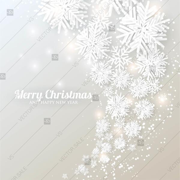 Свадьба - Christmas snowflake paper cut on gray background 3d origami vector winter birthday card