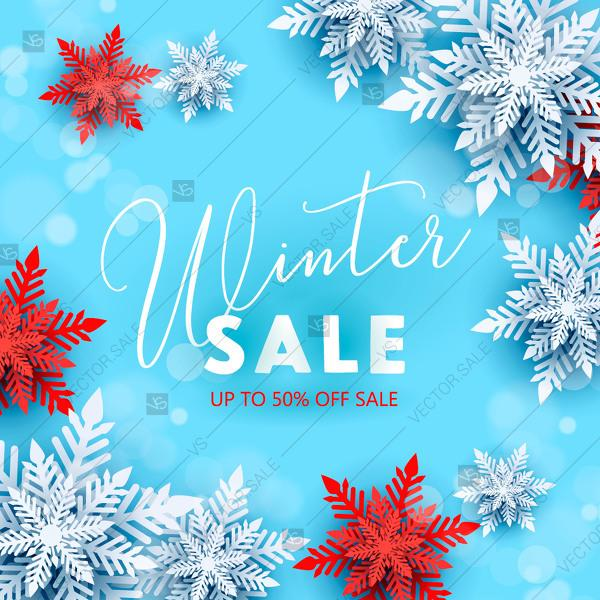 Wedding - Winter Sale Banner Poster Black Friday Sale Poster vector template mothers day card