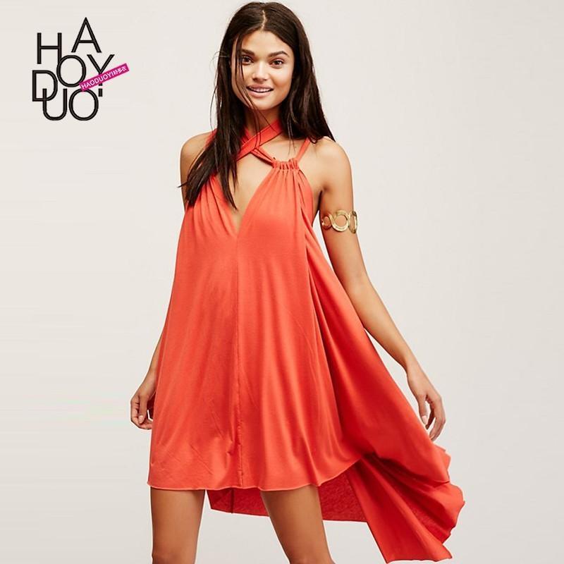Summer 2017 New Sexy Halter Neck Hanging Strap Asymmetric Loose Dress Woman Bonny Yzozo Boutique Store 2886870 Weddbook,Long Sleeve Boat Neck Lace Wedding Dress