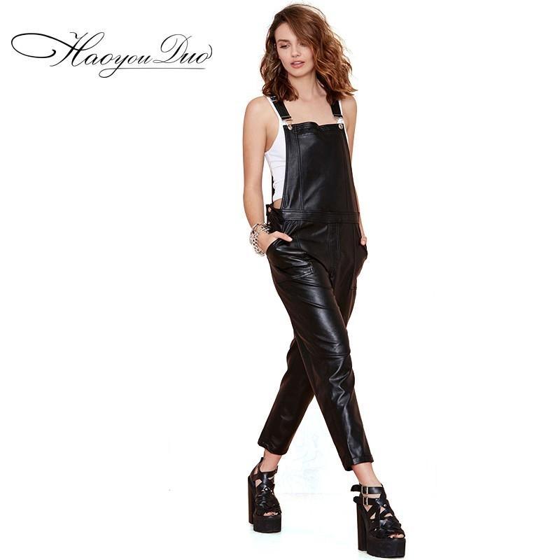 Mariage - Street Style Oversized Slimming Pocket Black Romper Long Trouser - Bonny YZOZO Boutique Store