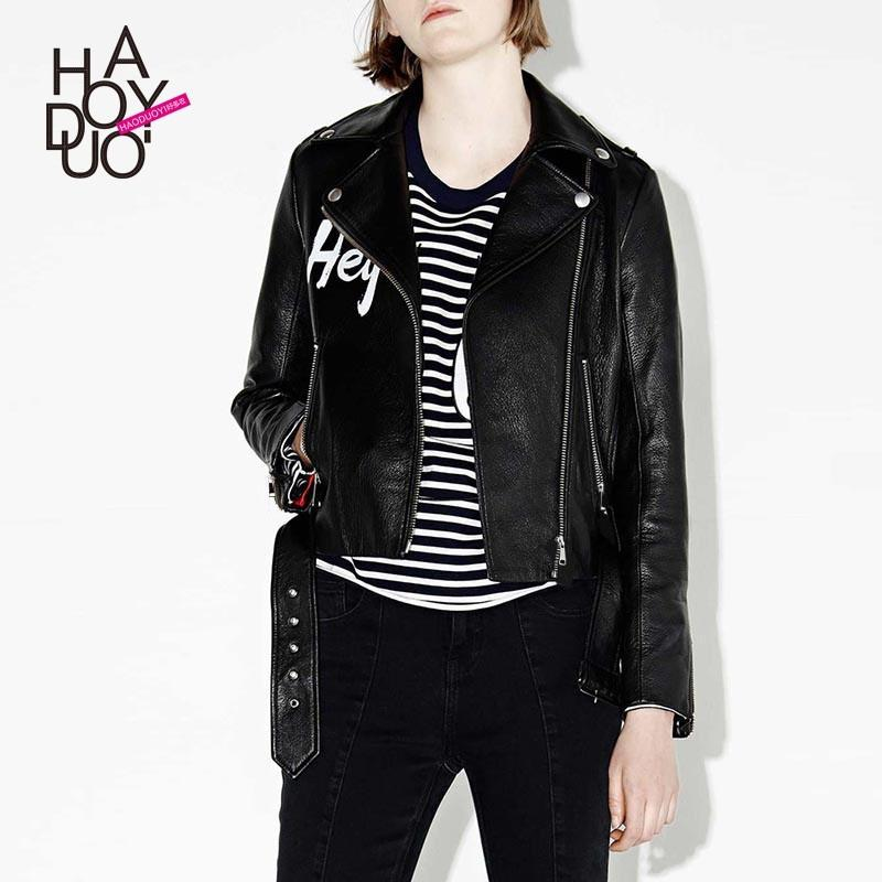 Wedding - Must-have Rock&Roll Vogue Printed Alphabet Winter Coat Leather Jacket Jacket - Bonny YZOZO Boutique Store