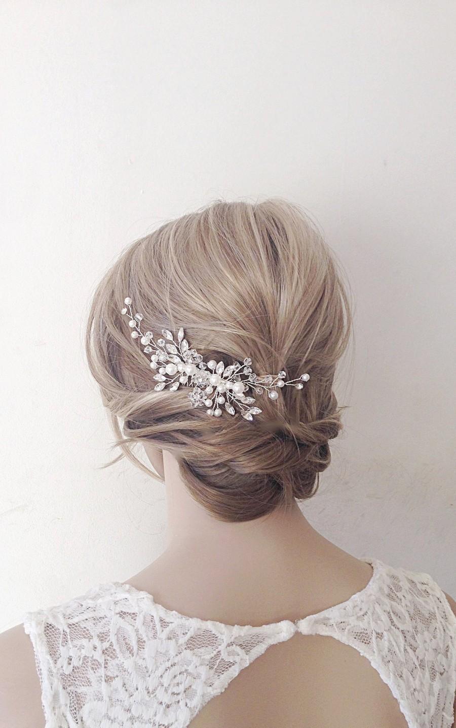 Wedding - Bridal hair comb,bridal hair piece,bridal headpiece,bridal hair vine,wedding hair piece,wedding hair comb,wedding headpiece,pearl hair vine