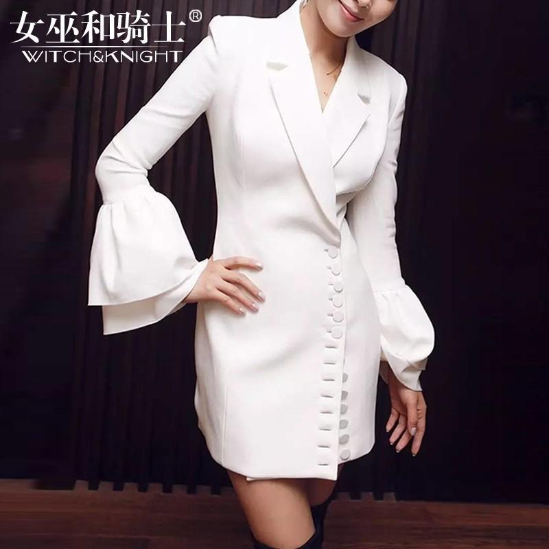 Wedding - Vogue Attractive Slimming V-neck It Girl 9/10 Sleeves Dress Top Suit - Bonny YZOZO Boutique Store