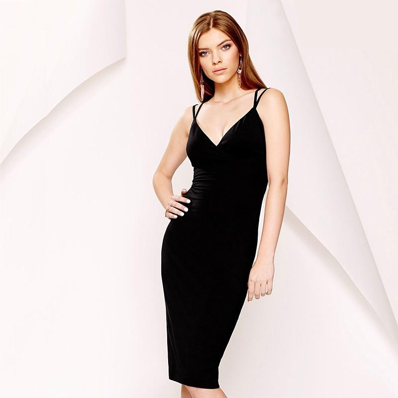 Wedding - Sexy Open Back Slimming V-neck Crossed Straps Dress Strappy Top - Bonny YZOZO Boutique Store