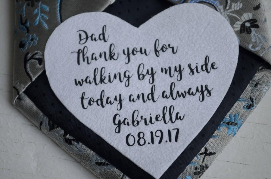 Wedding Gifts For Dad Tie Patch Birthday Gift From Daughter Personalized Mens Father Step In Law