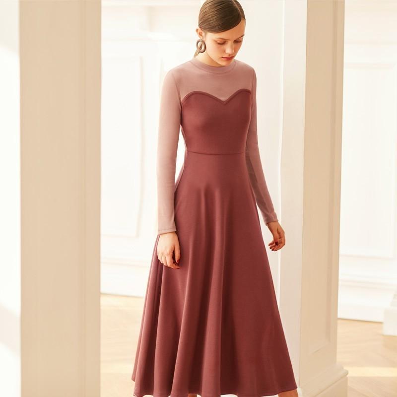 Mariage - Elegant Vintage Split Front Solid Color Trail Dress High Waisted Heart-shape Dress - Bonny YZOZO Boutique Store