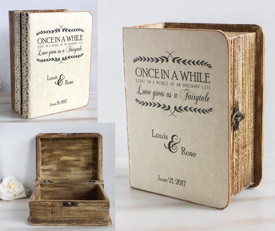 Свадьба - Rustic Card Box Personalized Keepsake Box Wooden Chest Small Wedding Card Box Custom Аdvice box Memory box Wood Favors box Anniversary gift