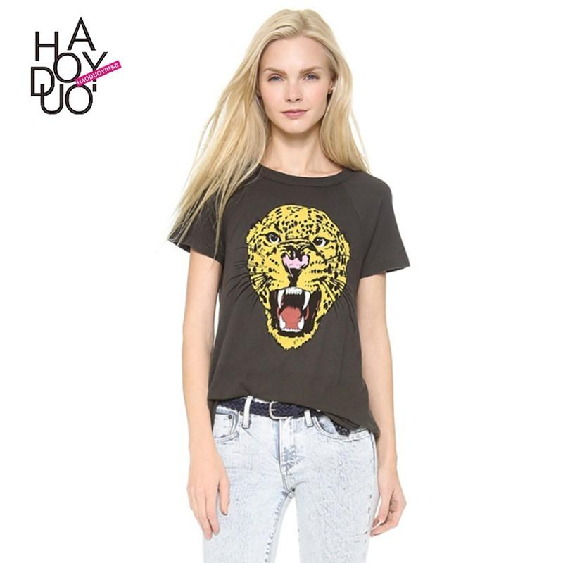Wedding - Vogue Simple Printed Short Sleeves Summer T-shirt - Bonny YZOZO Boutique Store