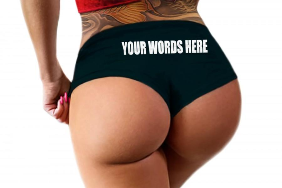 Свадьба - Custom Personalized Panties With Your Words Custom Printed Booty Panty Customized Womens Underwear