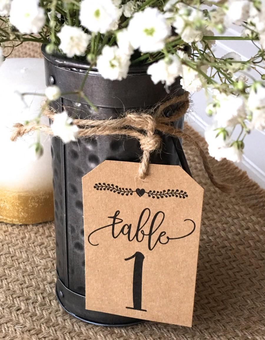 Свадьба - Rustic table numbers. wedding table numbers, paper table numbers, barn wedding, wedding tags, table tags, DIY wedding, mason jar tags
