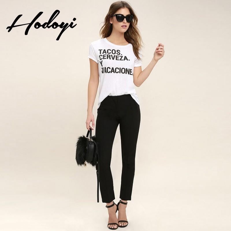 زفاف - Must-have Oversized Vogue Simple Printed Alphabet Summer Casual Short Sleeves Top T-shirt - Bonny YZOZO Boutique Store