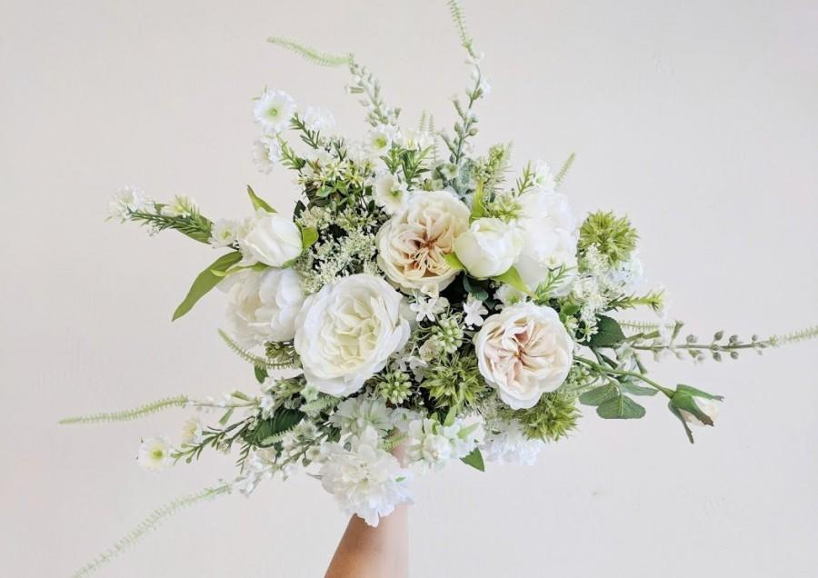 Hochzeit - Wedding Bouquet, Wedding Flowers, Silk Flower Bouquet, Silk Flowers, Bouquet, Flower Bouquet, Bridal Bouquet, The Faux Bouquets