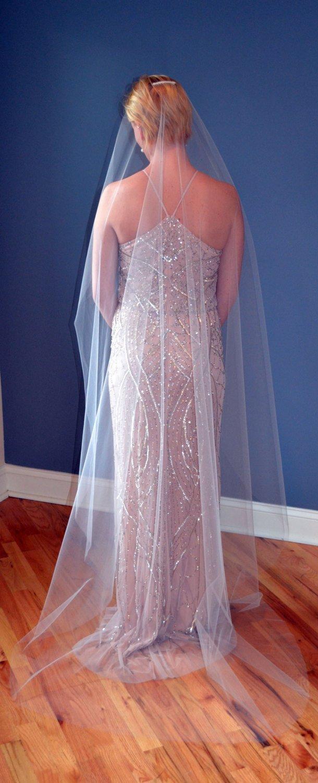 زفاف - Ethereal Single Tier Chapel Length Wedding Veil