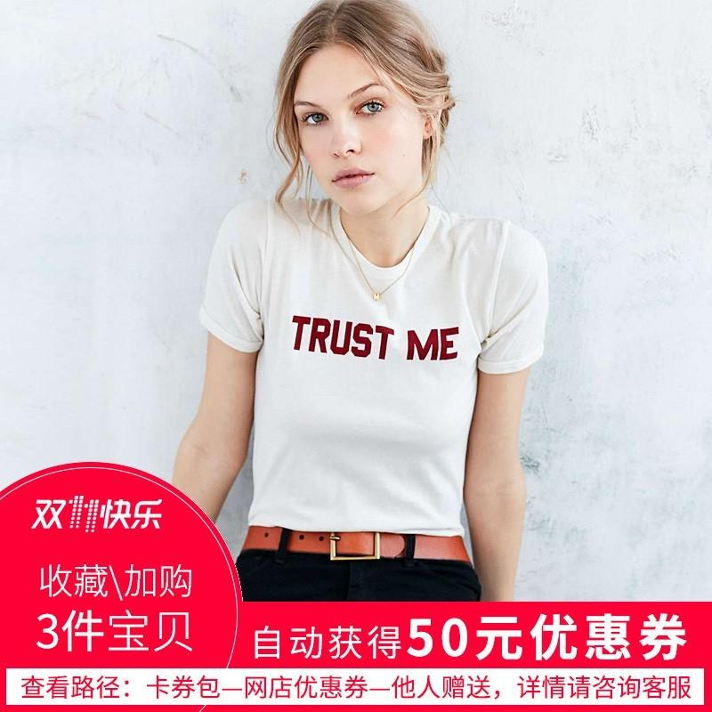 Wedding - Must-have Vogue Simple Printed Slimming Scoop Neck Alphabet Casual Short Sleeves T-shirt - Bonny YZOZO Boutique Store