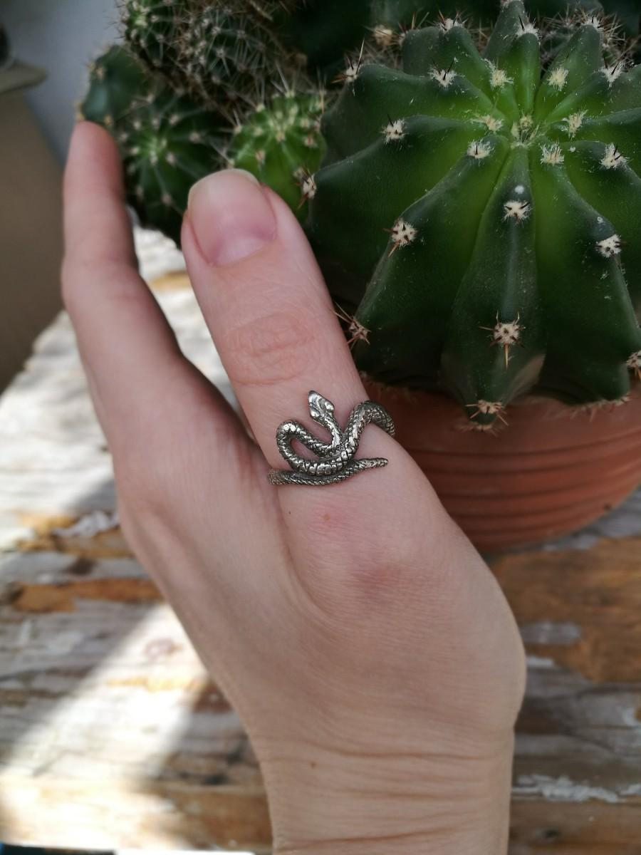 Wedding - Snake Ring Silver Serpent Silver Ring Viper Silver Ring serpents jewelry Cobra Silver Ring Reptile jewelry Snake Ring Serpent Biker Ring